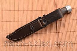 Нож боевой Финка с гербом Украины на рукоятке, Штрафбат + кожаный чехол, фото 3