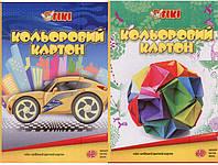 Картон цветной  А4. Набор  12 листов. 50901-ТК  Tiki