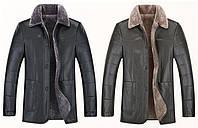 Дубленка на овчине с натуральной кожи мужская,куртка зимняя кожаная.Большие размеры.