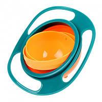 Тарелка-непроливайка Supretto Гиро Боул Оранжевый с голубым C018, КОД: 1284042
