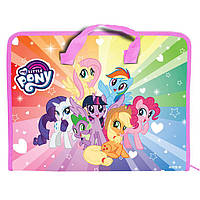 Портфель А4 Kite мод 202 My Little Pony пластик на молнии LP19-202