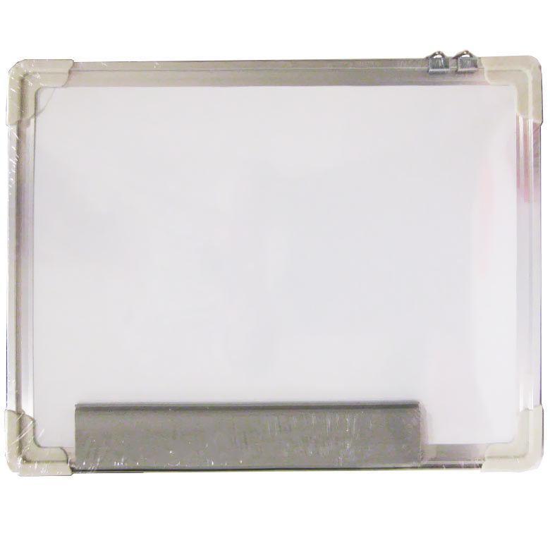 Доска двусторонняя магнитно-маркерная сухостираемая и для мела 30*40см Sat алюминевая рамка MB-3040