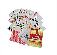 Карты игральные покерные пластиковые Duke Texas Holdem 54 листа 88х68 мм DN30766Red, КОД: 1343699