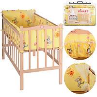 Защита для кроватки Vivast Bambi М V-612-01-1 Бежевый id2g8o, КОД: 142482