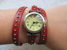 Часы-браслет красные