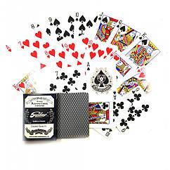 Карты игральные покерные атласные Duke Sunday 32 листа 88х63 мм DN30749BL, КОД: 717728