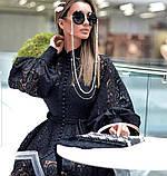 Кружевное платье с рукавом фонариком и расклешенной юбкой 7903594, фото 2