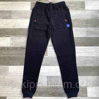 Штаны спортивные мужские х/б на байке с манжетом Nike, размер 46-54, чёрные, 05401