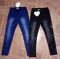 Леггинсы под джинс на меху для девочки Glass Bear 146-164