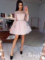 Пышной платье с фатиновой юбкой и кружевным верхом 6603638E, фото 1