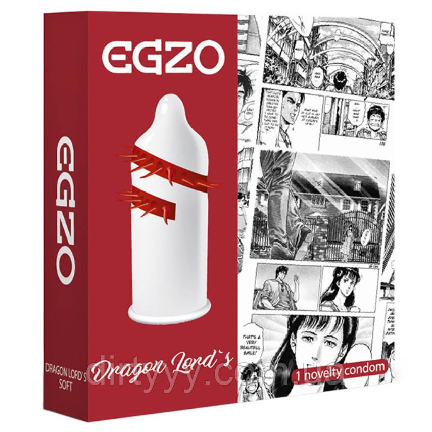 Одноразовая насадка на член - EGZO Dragon Lords(не является контрацептивом)