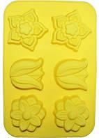 Форма силиконовая для выпечки Садовое 6 ячеек HH-626psg, КОД: 168218
