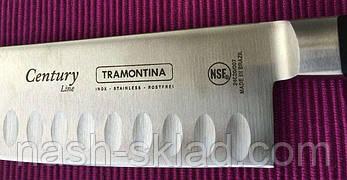 Элитный кухонный нож Сантоку Бразильского производства Tramontina, гарантия 25 лет, ОРИГИНАЛ, фото 2