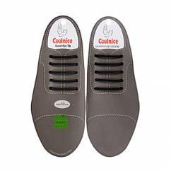 Силиконовые шнурки для классической обуви Coolnice Classic 5+5 Черный 2d-321, КОД: 1247138