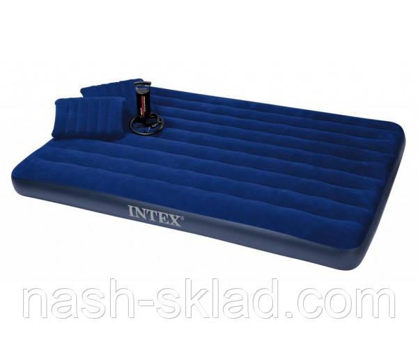 Двухместный надувной матрас INTEX, для всей семьи