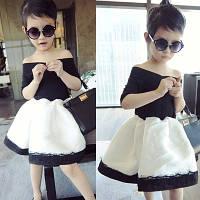 Детское черно-белое нарядное  платье