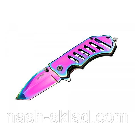 Нож складной Стеклобой Хамелеон ТАНТО, стильный и мощный клинок, фото 2