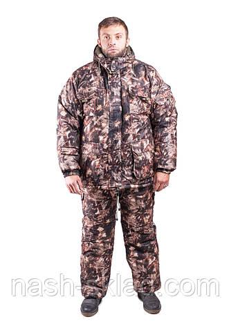 Зимний рыбацкий костюм Сосновый лес, толстый слой синтипона, водонепроницаемая мембрана алова, -30с комфорт, фото 2