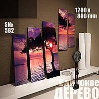 Модульная картина Декор Карпаты одинокое дерево 120х80см s582, КОД: 1324810