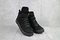 Ботинки зимние Timberland женские, черные, натуральная кожа, мех, в стиле Тимберленд,  код OO-БС105-01Z.