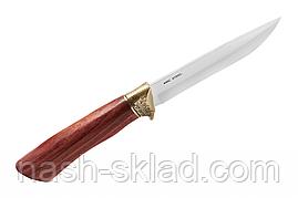Нескладной нож в кожаном чехле, отличный подарок мужчине, фото 2