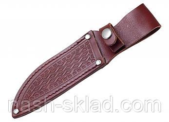 Нескладной нож с деревянной рукояткой, туристический + чехол, фото 2