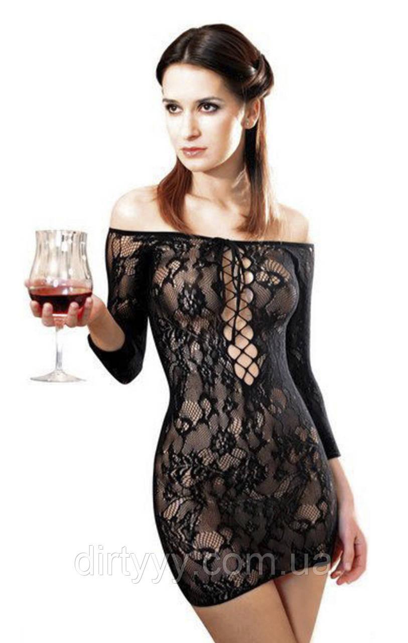 Платье сетка Anne De Ales FETISH DINNER, цвет: черный