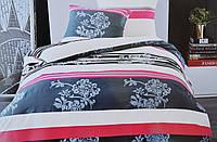 Комплект постельного белья Elway EW-5036 полуторный Бело-сине-красный hubSnbF40329, КОД: 1346037