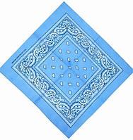 Бандана с рисунком 55х55 Голубая K029, КОД: 131994