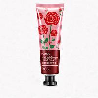 Крем для рук Rorec Natural Green Hand Cream Rose hubYYEY43766, КОД: 1022473