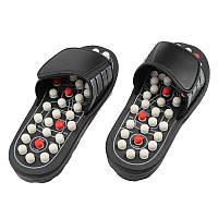 Массажные рефлекторные тапочки для ступней Adenki размер M 40-41 Черный 46-1011392866, КОД: 1333956