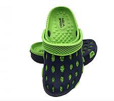 Сабо детские пляжные Aqua Speed Silv 28 Черный с зеленым aqs126, КОД: 961513