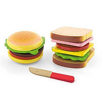 Игровой набор Viga Toys Гамбургер и сэндвич 50810, КОД: 1315963