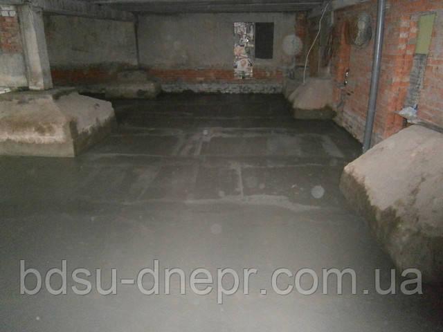 Бетонные полы в Днепропетровске в подвале
