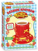 Вязание крючком Toysi Чехол на чашку Бантики TOY-41385, КОД: 1279426