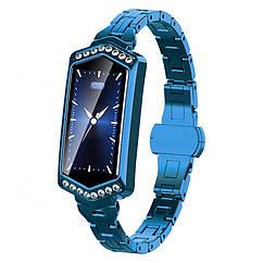 Умный фитнес браслет Finow B78 с цветным дисплеем и тонометром Синий ftfinowb78blue, КОД: 1348985