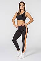 Женские спортивные леггинсы Radical Strokes с оранжевой полосой S r0881, КОД: 1191422