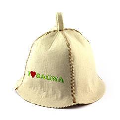 Банная шапка Luxyart Я люблю сауну Белый LA-333, КОД: 1101454