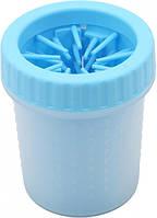 Лапомойка-стакан для собак Soft gentle 7х11 см Голубой p871782649-1, КОД: 898070
