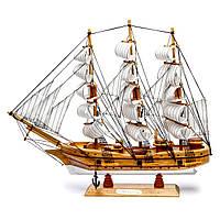Парусник модель из дерева 44 см 6807