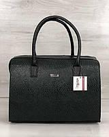 Классическая каркасная женская сумка Welassie Саквояж Темно-зеленый 65-31125, КОД: 1330713
