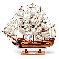 Модель парусного корабля Bounty из дерева 50 см S5005