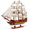Модель парусного корабля Bounty из дерева 50 см S5005, фото 2