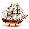 Модель парусного корабля Bounty из дерева 50 см S5005, фото 5