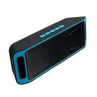 Портативная колонка UKC SC-208 BT Black-Blue gr006626, КОД: 397620