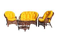 Комплект мебели Cruzo Копакабана из натурального ротанга Оранжевый ko0001, КОД: 743100