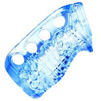 Мастурбатор - Fleshlight Fleshskins Grip Blue Ice, цвет: голубой