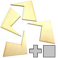 Головоломка геометрическая Крест и квадрат Крутиголовка krut0152, КОД: 119861