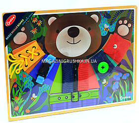 Логическая игра Бизиборд Мишка M03000
