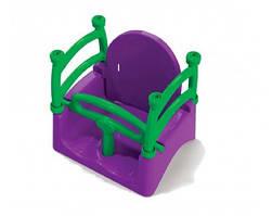 Качели Doloni Toys 0152 40 × 32 × 40 см Фиолетово-зеленые, КОД: 1331926